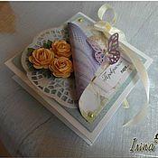 Свадебный салон ручной работы. Ярмарка Мастеров - ручная работа Коробочка-открытка для денег. Handmade.