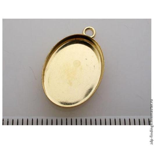 Для украшений ручной работы. Ярмарка Мастеров - ручная работа. Купить 6 основ Gold filled для для подвесок с кабошоном 12х10мм (OV12101GF). Handmade.