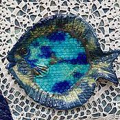 """Винтаж handmade. Livemaster - original item Комплект тарелок """" Ловись, рыбка"""". Handmade."""