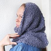 """Аксессуары ручной работы. Ярмарка Мастеров - ручная работа Снуд шарф серый """"Мне тепло!"""". Handmade."""