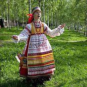 Народные костюмы ручной работы. Ярмарка Мастеров - ручная работа Народный сценический костюм-образ по южным образцам. Handmade.