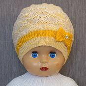 Аксессуары handmade. Livemaster - original item Cap of wool blend yarn