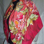 батик платок  Империя цветов