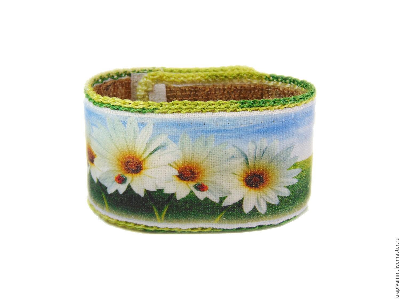 Bracelet nettle Chamomile field, Bead bracelet, Orel,  Фото №1