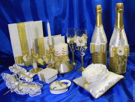 Сделать праздник рождения семьи незабываемым помогут свадебный набор аксессуаров.  ` Золото`. Волшебную атмосферу создают именно детали.