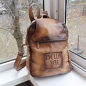 handmade. Livemaster - original item Backpack transformer leather engraved to order for Olga. Handmade.