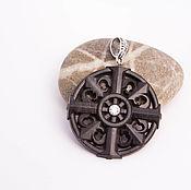 "Украшения handmade. Livemaster - original item Wooden pendant ""Gothic cross"". Handmade."