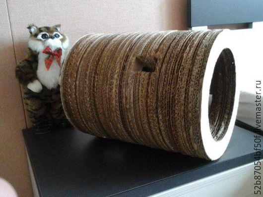 Аксессуары для кошек, ручной работы. Ярмарка Мастеров - ручная работа. Купить когтеточка «круговерть». Handmade. Бежевый, коте, пушистые, осень