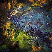 Картины и панно ручной работы. Ярмарка Мастеров - ручная работа Кит. Северное сияние. Handmade.