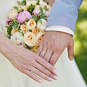 Свадебный салон ручной работы. Ярмарка Мастеров - ручная работа Кремово розовый букет невесты с пионами. Handmade.
