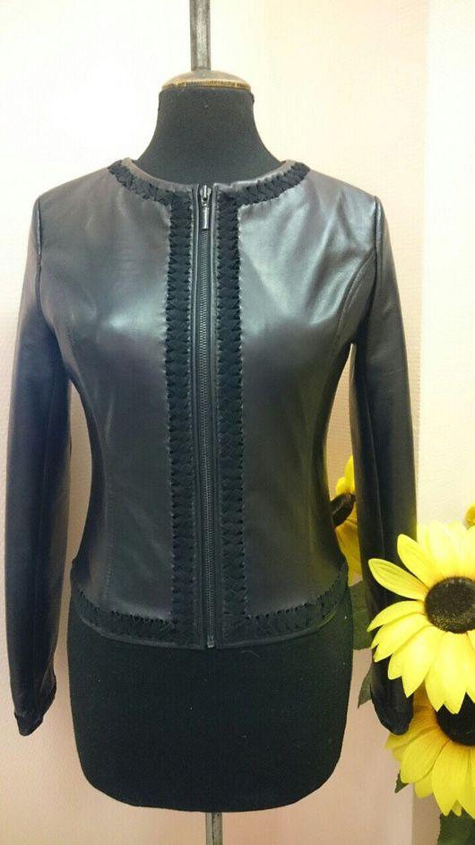 Верхняя одежда ручной работы. Ярмарка Мастеров - ручная работа. Купить Кожаная дизайнерская куртка Мои черничные ночи. Handmade.