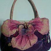 """Классическая сумка ручной работы. Ярмарка Мастеров - ручная работа Валяная сумка """"Орхидея"""". Handmade."""