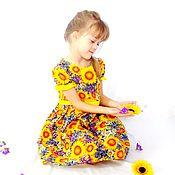 Работы для детей, handmade. Livemaster - original item Dress Sunflowers.. Handmade.
