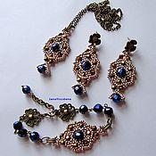 Украшения handmade. Livemaster - original item A set of jewelry Oriental motifs Beads and crystals. Handmade.