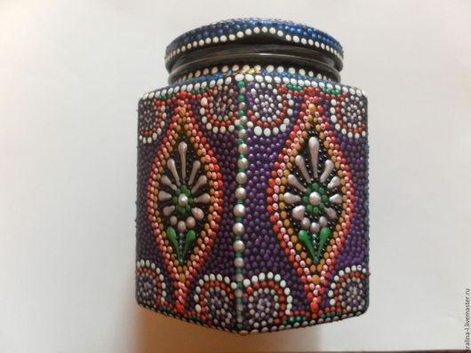Подарочное оформление бутылок ручной работы. Ярмарка Мастеров - ручная работа. Купить Баночка для хранения чая,кофе. Handmade. Разноцветный