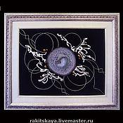 Картины и панно ручной работы. Ярмарка Мастеров - ручная работа Коллаж с агатом №290. Handmade.