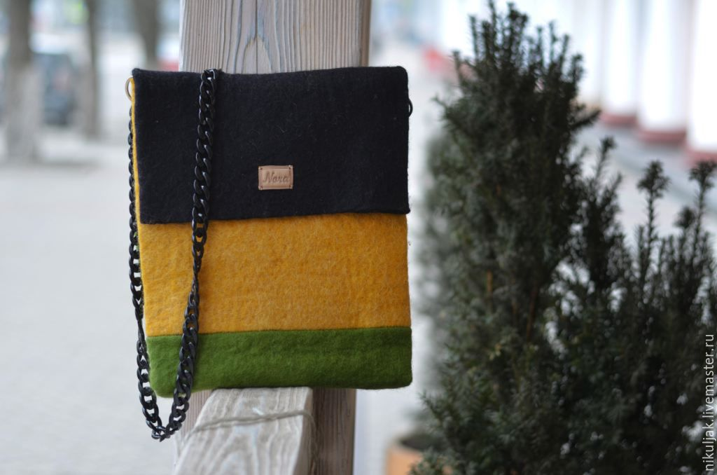 Bag felted Intrigue, Classic Bag, Dnepropetrovsk,  Фото №1