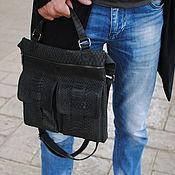 Сумки и аксессуары handmade. Livemaster - original item Stylish men`s Python leather bag. Handmade.