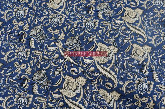Шитье ручной работы. Ярмарка Мастеров - ручная работа. Купить Ткань сорочеч. хлопок 4086, 150 см, синий. Handmade.