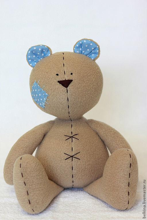 Куклы Тильды ручной работы. Ярмарка Мастеров - ручная работа. Купить Медвежонок Тэо. Handmade. Тильда, подарок для детей, коричневый