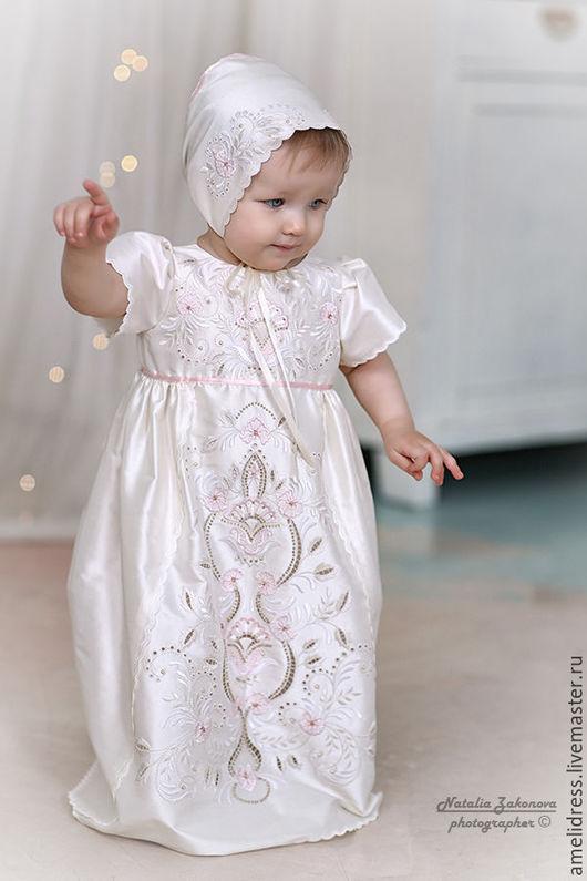 """Крестильные принадлежности ручной работы. Ярмарка Мастеров - ручная работа. Купить Крестильное платье """" Ришелье"""". Handmade. Белый, старина"""