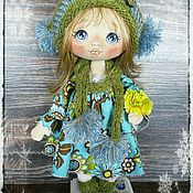 Куклы и игрушки ручной работы. Ярмарка Мастеров - ручная работа Куколка в голубом. Handmade.