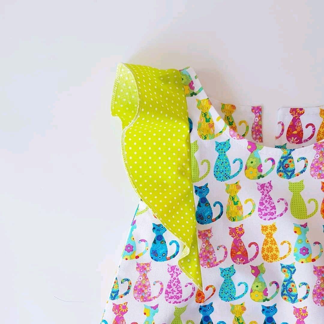 Одежда для девочек, ручной работы. Ярмарка Мастеров - ручная работа. Купить Летнее платье с воланами). Handmade. Для девочек, для принцесс