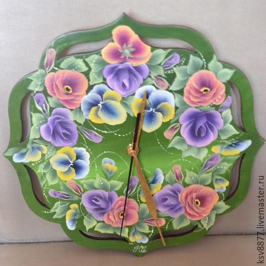 """Часы для дома ручной работы. Ярмарка Мастеров - ручная работа. Купить Настенные часы """"Венок"""". Handmade. Купить подарок"""