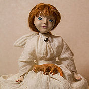 Куклы и игрушки ручной работы. Ярмарка Мастеров - ручная работа Ангел и кот. Handmade.