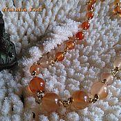 "Украшения handmade. Livemaster - original item Carnelian necklace in Wire Wrap technique ""Vienna"". Handmade."