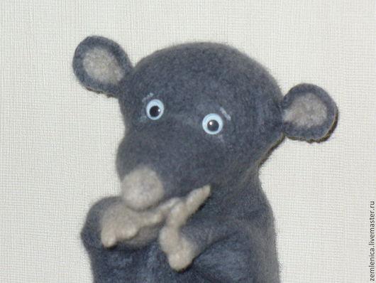 """Кукольный театр ручной работы. Ярмарка Мастеров - ручная работа. Купить Игрушка на руку """"Мышонок"""". Handmade. Мышонок, кукольный театр"""