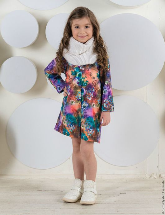 """Одежда для девочек, ручной работы. Ярмарка Мастеров - ручная работа. Купить Пальто летнее """"Цветы"""". Handmade. Комбинированный, цветы, бренд"""
