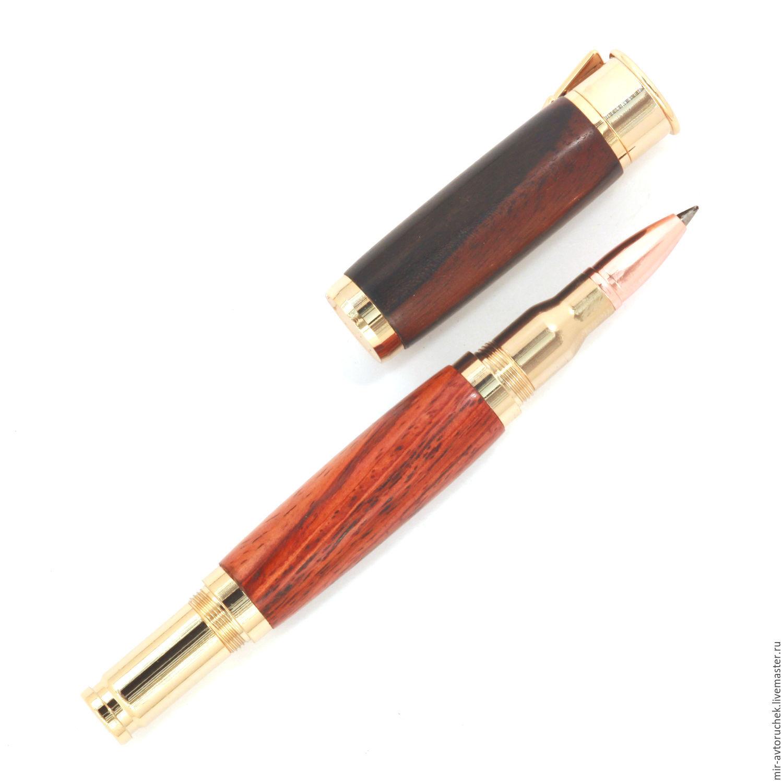 Карандаши, ручки ручной работы. Ярмарка Мастеров - ручная работа. Купить Роллер Двойной калибр золото. Handmade. Подарок