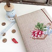 Канцелярские товары handmade. Livemaster - original item Notepad culinary cross stitch Radishes. Handmade.