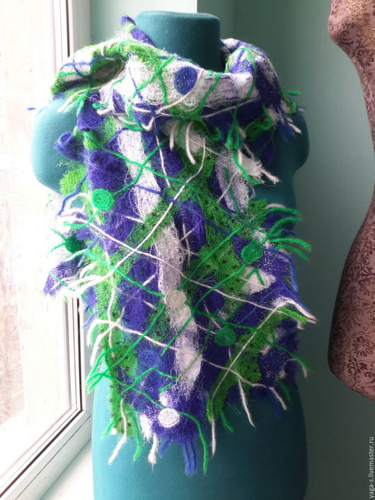 """Шарфы и шарфики ручной работы. Ярмарка Мастеров - ручная работа. Купить Весенний шарф """"Оттепель"""". Handmade. Шарф, шарф женский"""