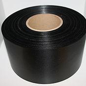 Ленты ручной работы. Ярмарка Мастеров - ручная работа Лента сатиновая черная. Handmade.
