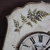 """Для дома и интерьера ручной работы. Ярмарка Мастеров - ручная работа Настенные часы """"Wild ivy"""" (дикий плющ - англ.). Handmade."""