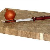Для дома и интерьера ручной работы. Ярмарка Мастеров - ручная работа Разделочная доска торцевая 450х300х40мм. Handmade.