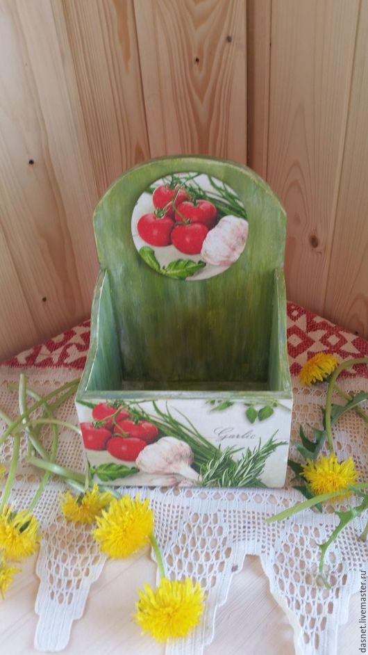 """Корзины, коробы ручной работы. Ярмарка Мастеров - ручная работа. Купить Подставка для специй""""Зелень"""". Handmade. Зеленый, короб, для кухни, зелень"""