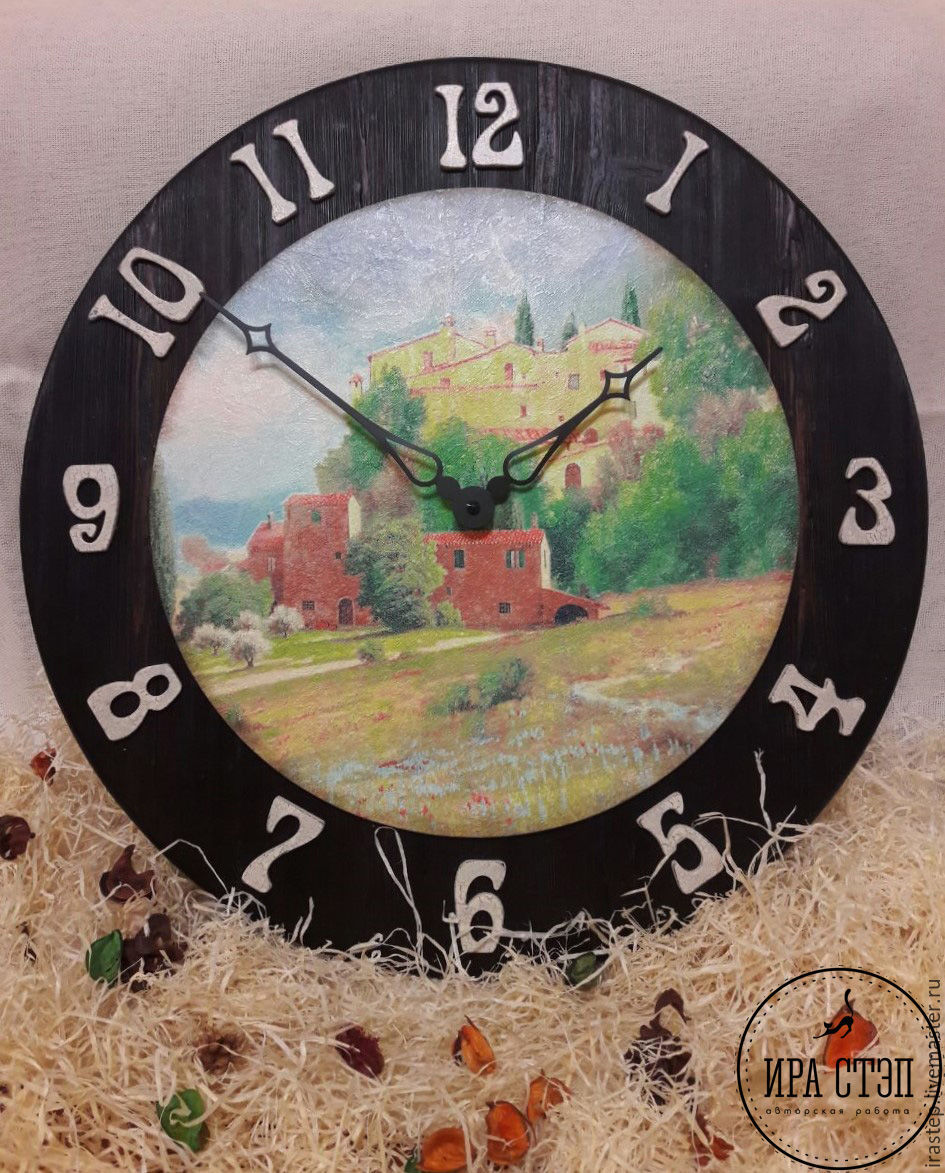 """Wall clock """"Provence"""" – shop online on Livemaster with ..."""