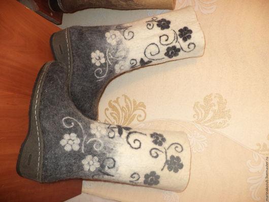 Обувь ручной работы. Ярмарка Мастеров - ручная работа. Купить валенки женские в наличии. Handmade. Белый, кружево