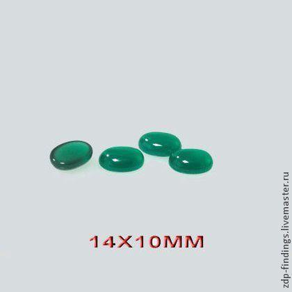 Для украшений ручной работы. Ярмарка Мастеров - ручная работа. Купить 4 тон. зеленых и голубых  халцедоновых овальных кабошона 14х10мм. Handmade.
