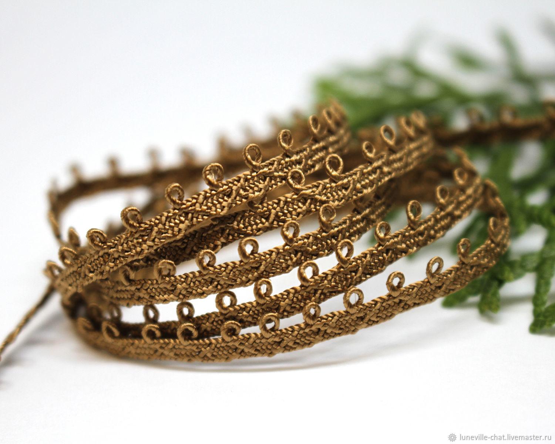 5 mm gold-brown Pico mokuba ribbon (№14), braid, St. Petersburg,  Фото №1