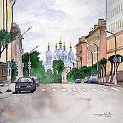 Картины и панно handmade. Livemaster - original item Watercolour Cathedral of Smolensk. Handmade.