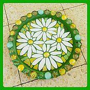 """Посуда ручной работы. Ярмарка Мастеров - ручная работа Тарелка из мозаики """"Ромашки"""". Handmade."""