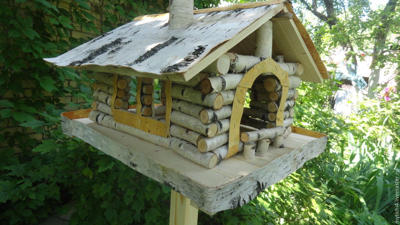 Как сделать кормушку для птиц из бревна
