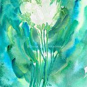 Картины и панно ручной работы. Ярмарка Мастеров - ручная работа Картина Букет белых цветов акварельная картина с цветами. Handmade.