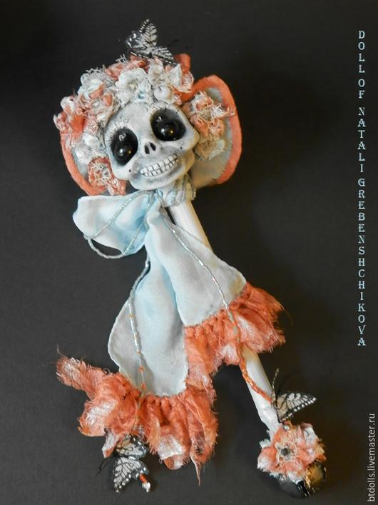 Коллекционные куклы ручной работы. Ярмарка Мастеров - ручная работа. Купить Продаётся Баронесса Адель фон Ле Флёр черепушка-погремушка. Handmade.