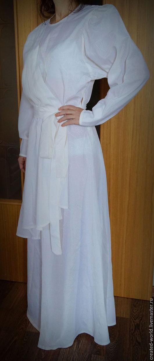 Одежда. Ярмарка Мастеров - ручная работа. Купить Белое новое платье. 46 размер. Handmade. Белый, винтажное платье