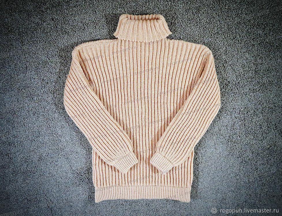 Sweater knitted creme brulee (No. №660), Mens sweaters, Nalchik,  Фото №1